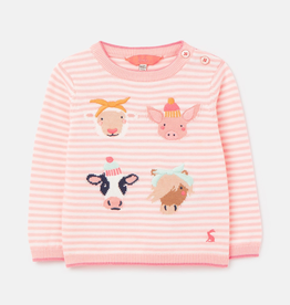 Joules Joules Holly Pink Faces Sweater