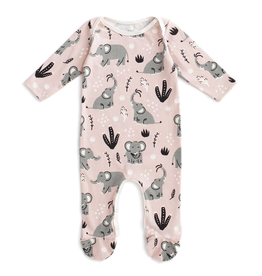 Winter Water Factory Winter Water Factory Elephants Footed Romper