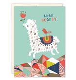 Prancing Llama Birthday Card