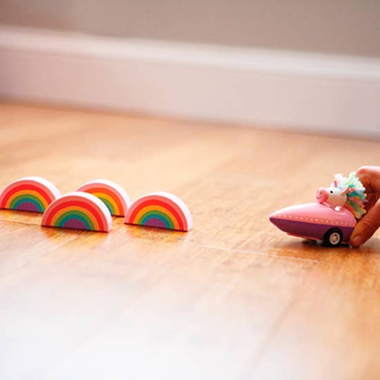 Jack Rabbit Creations Jack Rabbit Unicorn and Rainbow Bowling Toy