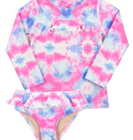 Shade Critters Shade Critters Cotton Candy Tie Dye Rashguard Set