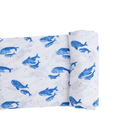 Angel Dear Angel Dear Blue Whale Swaddle Blanket