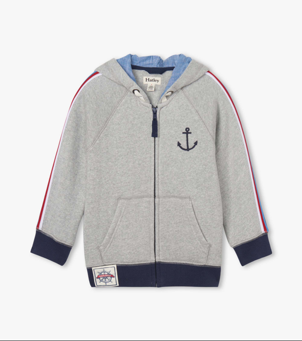 Hatley Hatley Nautical Raglan Hoodie