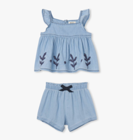 Hatley Hatley Denim Baby Sweet Heart Top Set