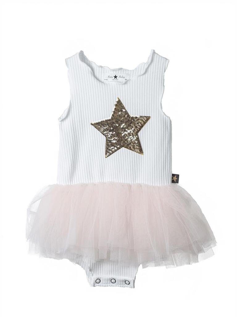 Petite Hailey Petite Hailey Star Baby Tutu Onesie