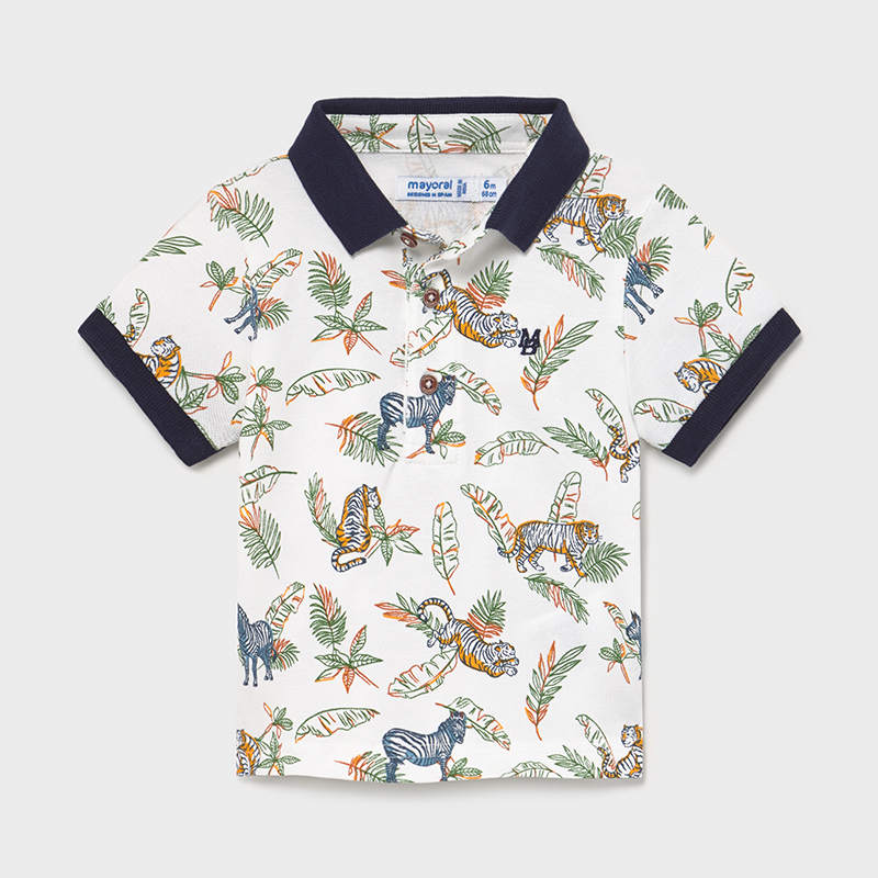 Mayoral Mayoral Short Sleeve Print Polo