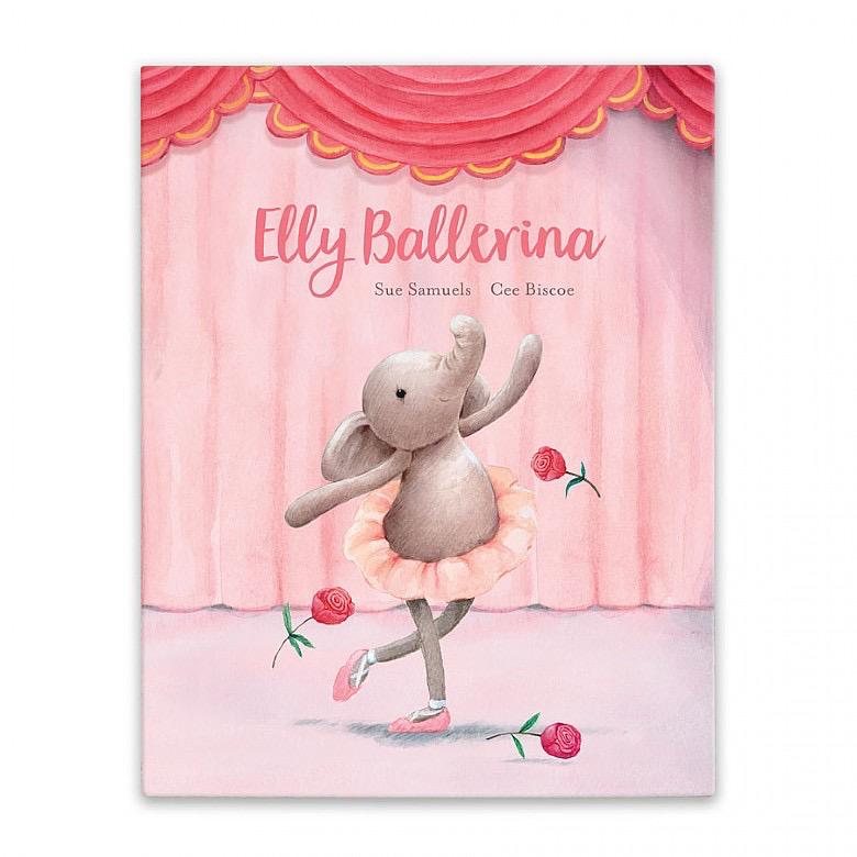 JellyCat Jelly Cat Elly Ballerina Book