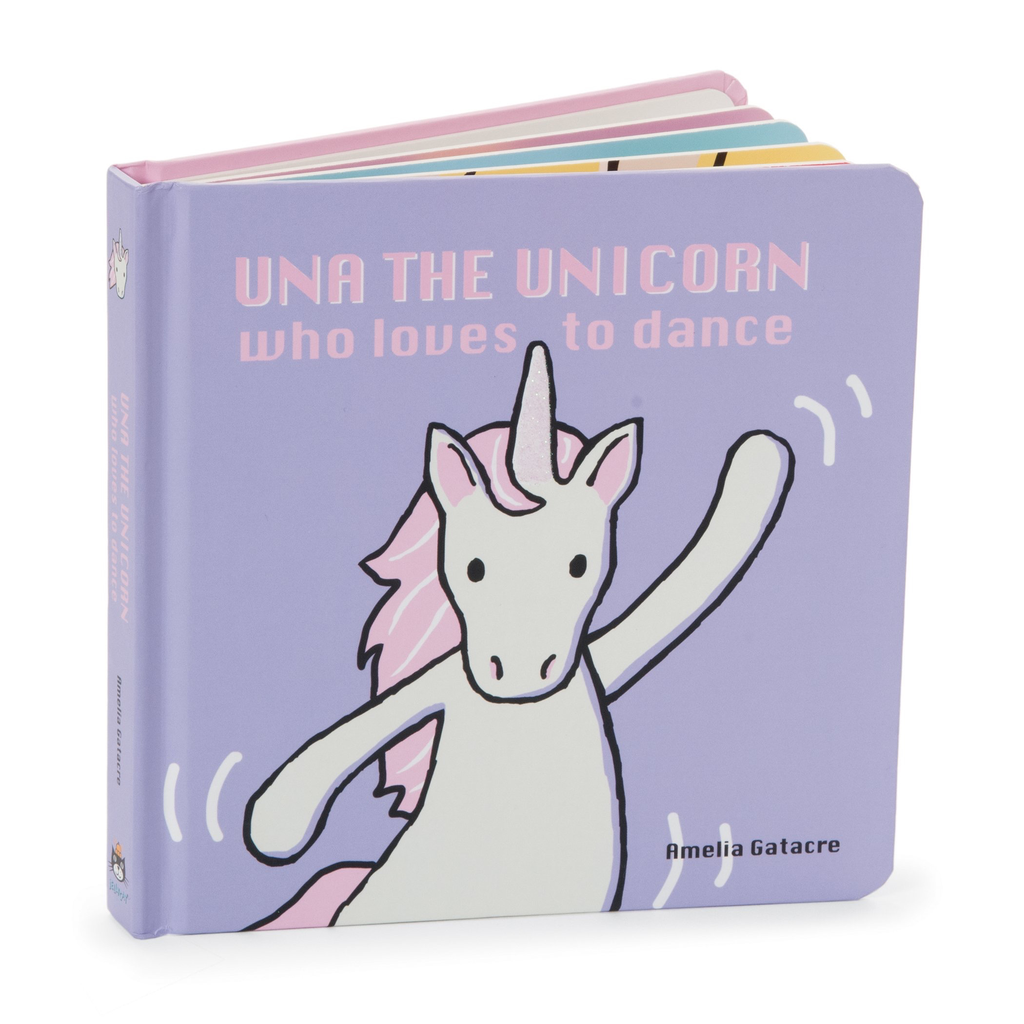 JellyCat Jelly Cat Una The Unicorn Who Loves To Dance Book
