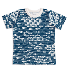 Winter Water Factory Winter Water Factory Short-Sleeve Tee - Under the Sea Navy