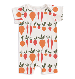 Winter Water Factory Winter Water Factory Summer Romper - Root Vegetables Natural
