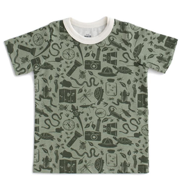 Winter Water Factory Winter Water Factory Short-Sleeve Tee - Nature Explorer Sage & Forest Green