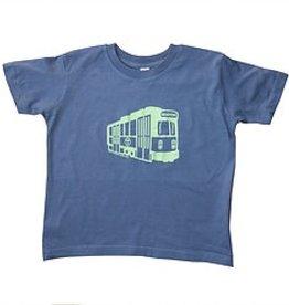 Sidetrack Sidetrack Green Line Indigo Short Sleeve Tee  Shirt