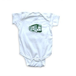 Sidetrack Sidetrack Short Sleeve Boston Green Line Bodysuit