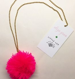 Little Lux Little Lux Pom Pom Necklace  Collaboration with Eliza Gran