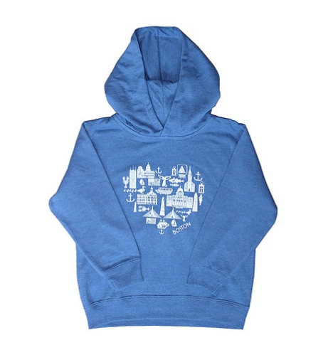 Sidetrack Sidetrack Toddler Boston Icons Hoodie