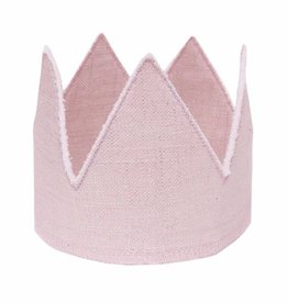 Oh Baby Oh Baby Pink Linen Crown Toddler