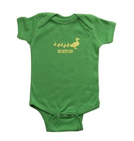 Sidetrack Sidetrack Short Sleeve Green Ducklings Bodysuit