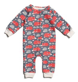 Winter Water Factory Winter Water Factory French Terry Jumpsuit- Fox & Hedgehogs