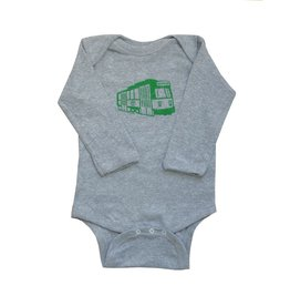 Sidetrack Sidetrack Long Sleeve Boston Green Line Bodysuit *more colors*