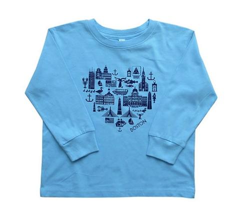 Sidetrack Sidetrack Boston Icon Tee Shirt Blue