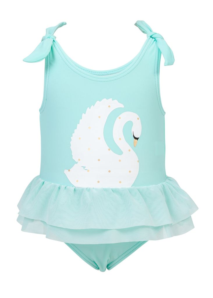Snapper Rock Snapper Rock Swan Tulle Swimsuit UV50