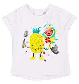 deux par deux Deux Par Deux Cold Press Fashion Printed T-Shirt