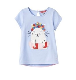 Joules Joules Maggie Cat Applique Tee Shirt