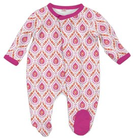 Magnificent Baby Magnificent Baby Floral Damask Modal Footie