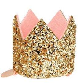 Meri Meri Meri Meri Mini Gold Glittered Crown Hair Clip