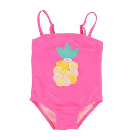 Billieblush Billieblush Baby Pinepple One Piece Swimsuit