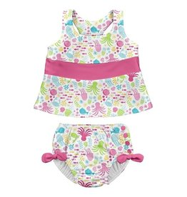 i play i play Sea Pals Bow Tankini Set with Swim Diaper