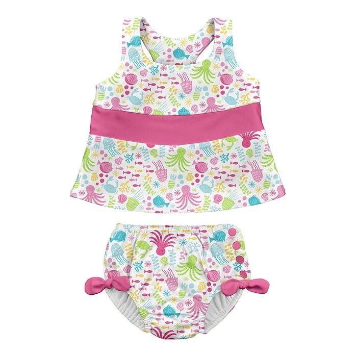 2e9895c912 i play i play Sea Pals Bow Tankini Set with Swim Diaper
