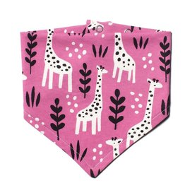 Winter Water Factory Winter Water Factory Kerchief Bib - Giraffes