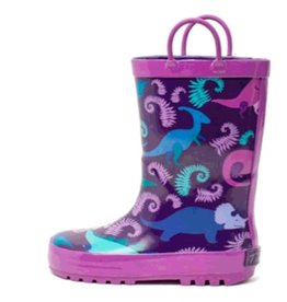 Timbee Timbee Rainboot Purple Dino