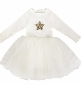 Petite Hailey Petite Hailey Long Sleeve Tutu Star Dress