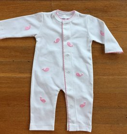 Sammy & Nat Sammy & Nat Whale Romper with Trim