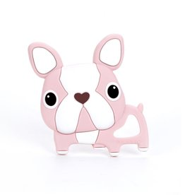 Loulou Lollipop Loulou Lollipop Pink Boston Terrier Silicone Teether