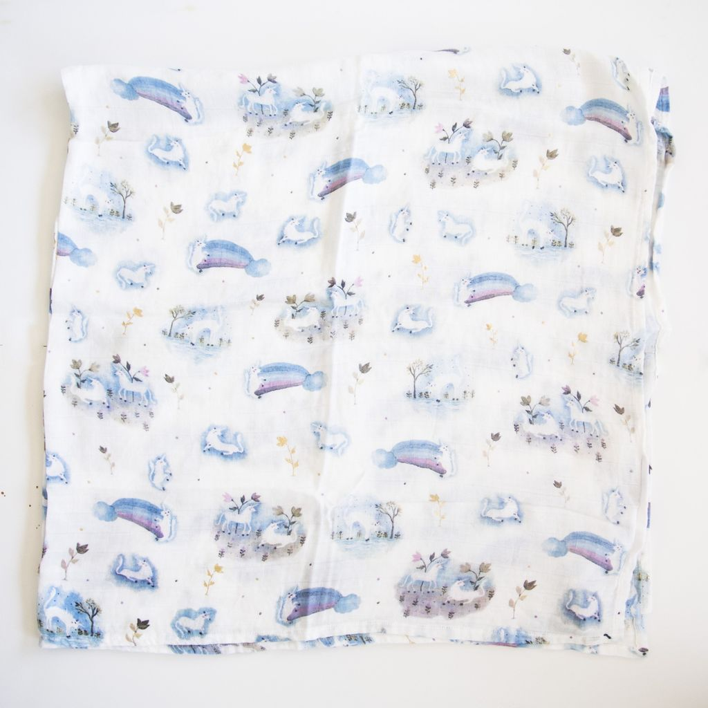 Loulou Lollipop Loulou Lollipop Unicorn Garden Luxe Muslin Swaddle