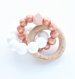 Loulou Lollipop Loulou Lollipop Rose Gold Trinity Wood & Silicone Teether