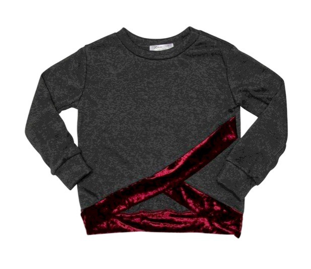 Joah Love Joah Love Rori Velvet and Sherpa Terry Sweater