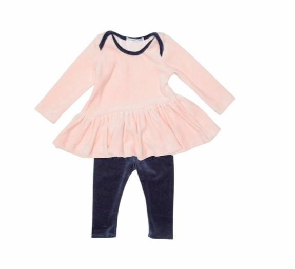 Joah Love Joah Love Cassidy Lux Velour Dress and Legging Set