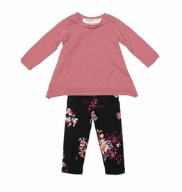 Joah Love Joah Love Angel Top with Floral Legging Set