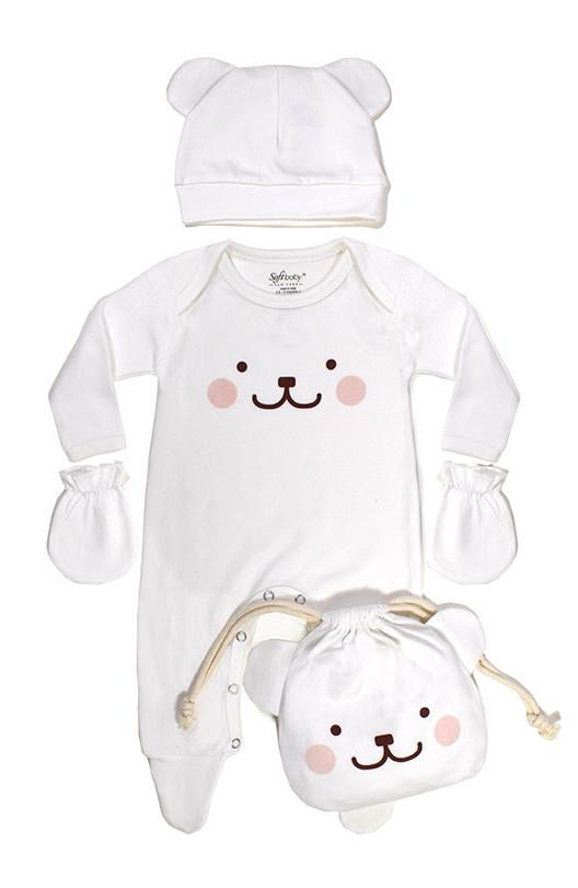 Soft Baby Soft Baby Organic Be-a-Bear Giftset