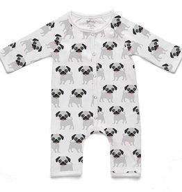 Soft Baby Soft Baby Organic Pug Long Romper