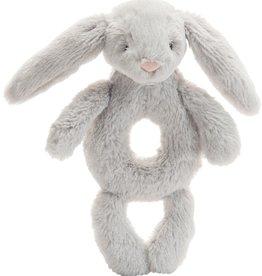 JellyCat Jelly Cat Bashful Gray Bunny Ring Rattle