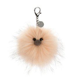 JellyCat Jelly Cat Just Peachy Pom Bag Charm