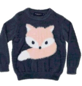 tooby doo Tooby Doo Faux Mohair Fox Sweater