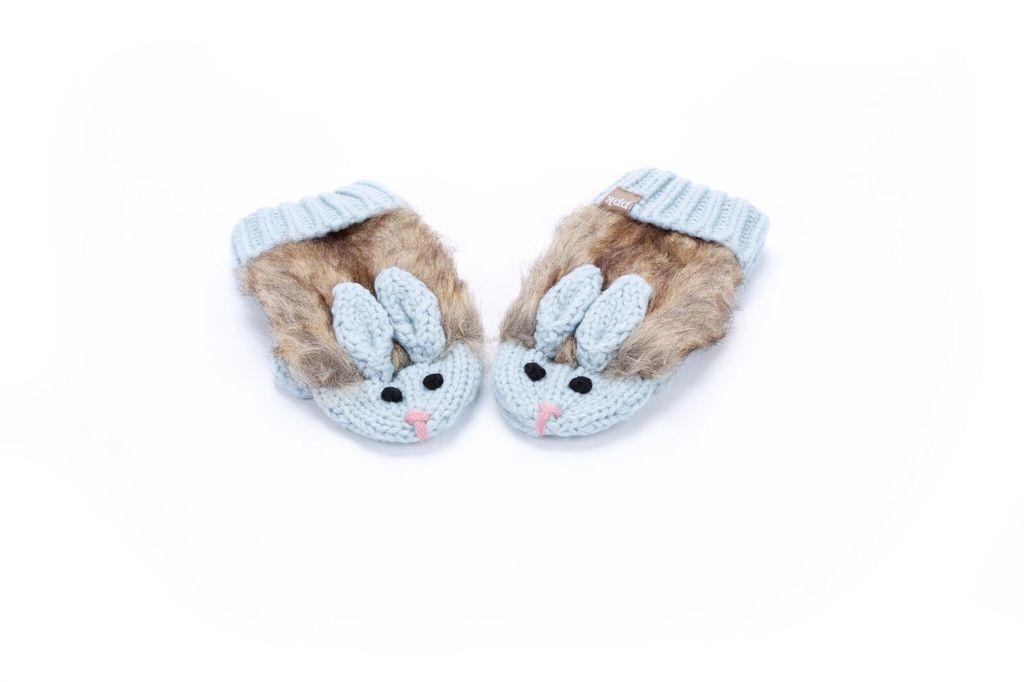 Peppercorn Kids Peppercorn Kids Faux Fur Cozy Cute Bunny Mittens