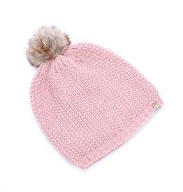 Peppercorn Kids Peppercorn Kids Textured Knit Faux Fur Pompom Beanie