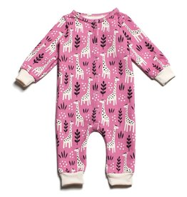 Winter Water Factory Winter Water Factory French Terry Jumpsuit - Giraffes